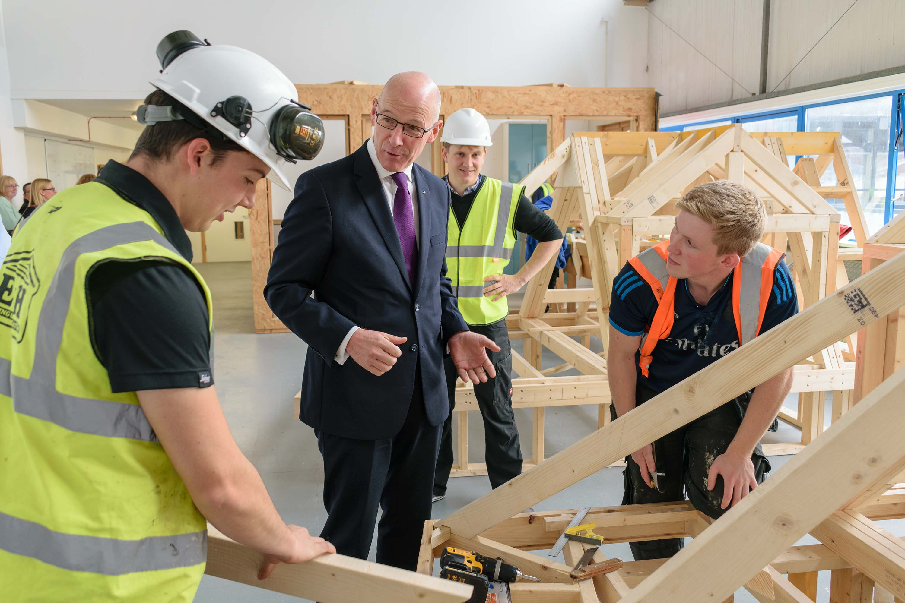 Shetland College Construction Department Welcome Visit from Deputy First Minister